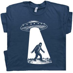 Bigfoot UFO T Shirt Sasquatch Funny Shirt Alien Area 51 Cryptozoology Men Women