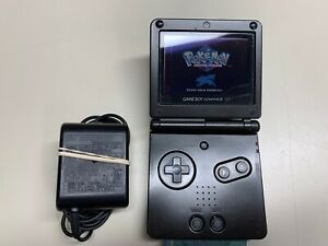 NINTENDO GAMEBOY ADVANCE SP AGS-001 DARK BROWN BLACK W/ CHARGER