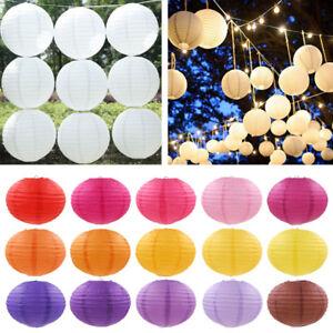 "Chinese Round Paper Lanterns Lamp Birthday Wedding Party Decor 6"" 8"" 10"" 12"" 14"""