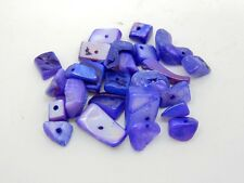 25g Natural Shell Nugget Chips Purple in Colour Approx 30+ Beads Per Pack R76