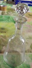 Ancienne carafe verre bulle pour le Vin bouchon verre biseautée Vintage 1950