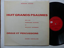 BERNARD CHASSE Huit grands psaumes CHRISTINE SANDRE  LEHEMBRE  Orgue percussions
