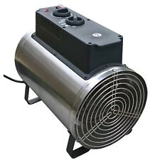 2.8kW Stainless Steel Electric Greenhouse Heater with 2 Year Warranty