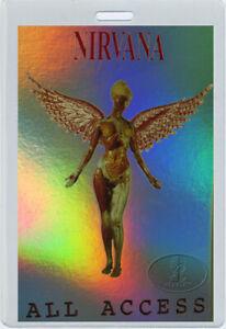 NIRVANA 1993-94 In Utero Tour Laminated Backstage Pass KURT COBAIN Foil-Printed