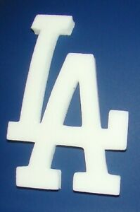 Los Angeles Dodgers Raised 3D LA Foam Full Size Batting Helmet Logo Decal