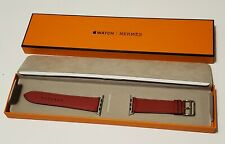 HERMÈS Apple Watch 44mm  Red Single Tour Demo  band  Size 10 Band Only