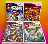LEGO Batman 1, 2 , Star Wars Saga Clone Wars, Indiana Jones Nintendo Wii / Wii U