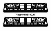 2 x Kennzeichenhalter Schwarz Glanz Nummernschildhalterung passend für Audi N1