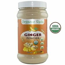 Organic Veda - Ginger Powder 1lb. (PLASTIC DENTED & ON SALE) - FREE SHIPPING