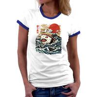 Sharkiri Sushi Japanese t shirts women Top Cotton Short Sleeve Tee summer shirts