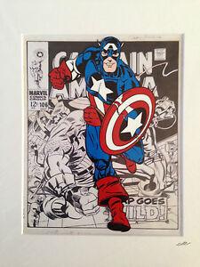 Captain America - Marvel Comics - Hand Drawn & Hand Painted Cel
