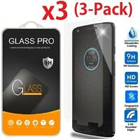 3-Pack Tempered Glass Screen Protector Saver For Motorola Droid Turbo 2
