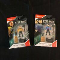 Mega Construx Heroes Star Trek Captain Kirk and Commander Spock   A3