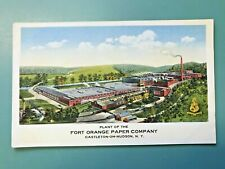 New ListingEarly Post Card: Plant of the Fort Orange Paper Company, Castleton-on-Hudson Ny