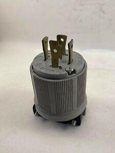 Arrow Hart 6542 Lock Plug, NEMA L17-30P, 30A, 600V, Used
