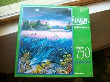 750 piece pre assembled puzzle seascapes by milton bradley 18 x 24 inches 1990