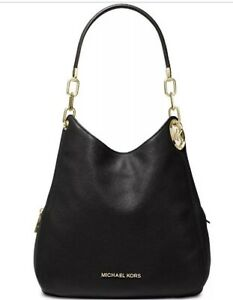 1 Michael Kors Lillie Leather Black/Gold Hobo &1 Michael Kors Grey/Silver