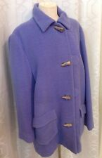 Bill Blass Jacket Periwinkle Blue Horn Buttons Size 8 Satin Lined