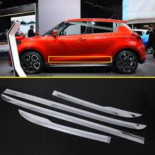 Chrome Exterior Side Car Door Body Bottom Cover Trim 4pcs For Suzuki Swift 2018