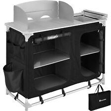 Campingküche Alu Küchenbox Campingschrank Faltschrank faltbar Vorzelt schwarz