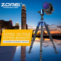 ZOMEI Z818C Professional Carbon Fiber Tripod Monopod Ball Head for DSLR
