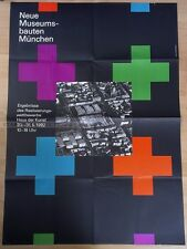 GERMAN EXHIBITION XXL POSTER 1992 - NEW MUSEUM BUILDINGS MUNICH * ART PRINT