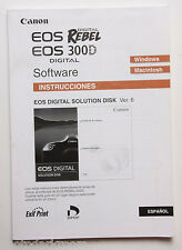 Canon Software Guide for Rebel 300D BOOK ONLY No Disc - SPANISH - USED B37