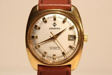 "VINTAGE RARE NICE MEN'S SWISS GOLD PLATED  AUTOMATIC WATCH""CANDINO"" 25 JEWELS."