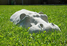 New Large Hippo Hippopotamus Outdoor Lawn Sculpture Garden Ornament Patio Decor