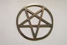 Large Three Inch Pewter  Wiccan Pentagram Pentacle