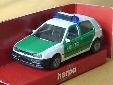 Herpa VW Golf POLIZEI weiss-gruen - 041850 - uralt - 1/87
