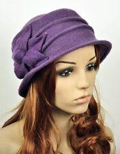Warm Wool Elegant Lady's Women's Dress Hat Beanie Cap 6-Leaf Flower 6-Colors
