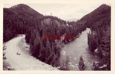 Highway To Priest Lake Near The Outlet, Idaho circa 1945 auto Rppc