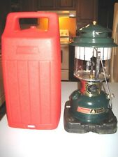1984 June Coleman CLX Adjustable Double Mantle Lantern Model 290 VG W/ ORIG CASE