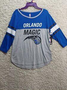 Orlando Magic Shirt Women's X-Large Gray Blue Long Sleeve NBA 2015