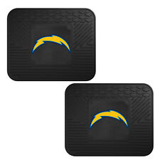 NFL Los Angeles Chargers Car Truck 2 Back Utility All Weather Rubber Floor Mats
