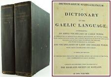 1828*SCOTTISH GAELIC DICTIONARY*DICTIONARIUM SCOTO-CELTICUM*LATIN/ENGLISH/HEBREW