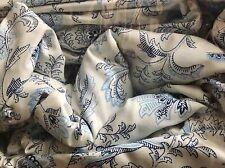 Ralph Lauren KING Sheet Set Refreshing Jacobean BLUE & WHITE FLORAL PAISLEY 4pc