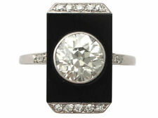 Unbranded Diamond Platinum Natural Stone Fine Rings