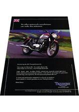2001 Triumph Bonneville Motorcycle Bike  -  Vintage Advertisement Print Ad J424