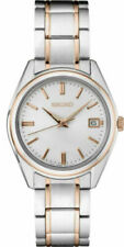 Seikowomen's кварцевые белый циферблат, двухцветной стальной браслет, часы SUR322