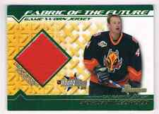 2002-03 BOWMAN YOUNGSTARS FABRIC OF THE FUTURE GAME WORN JERSEYS JORDAN LEOPOLD