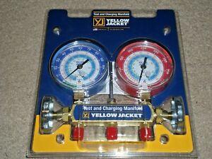 "Yellow Jacket 42005 Series 41 manifold w/31/8"" Gauges (R22/R134A/404A) FREE SHIP"