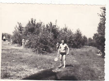 1960s nude muscle man plays badminton gay interest Russian Soviet photo