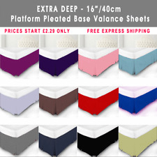 Plain Dyed 100% Poly Cotton Platform Base Valance Box Pleated Sheet All Sizes