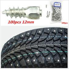 100× 12mm Car SUV ATV Screw Stud Snow Spikes Trim Wheel Tyres Snow Chains Studs