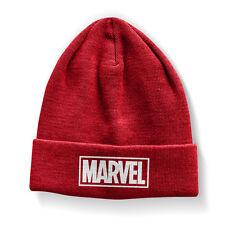 Officially Licensed Marvel Red Logo Beanie