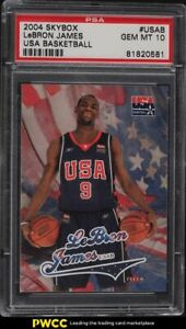 2004 Skybox USA Basketball LeBron James #USAB PSA 10 GEM MINT