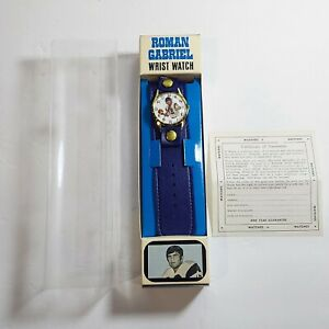 Vintage 1972 MIB Roman Gabriel 18 LA Rams Wrist Watch NFL Made in Switzerland