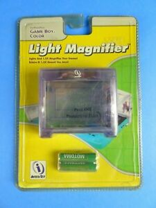 NEW Clear LIGHT & MAGNIFIER for Nintendo GameBoy Color SHIPS FREE.